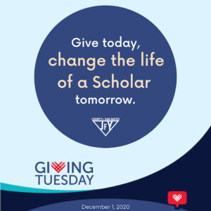 Give today, change the life of a Scholar tomorrow.